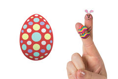 Composite image of fingers as easter bunny Stock Images