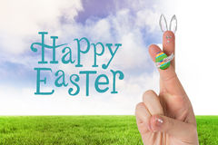 Composite image of fingers as easter bunny Royalty Free Stock Photography