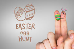 Composite image of fingers as easter bunny Stock Photos