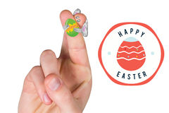 Composite image of fingers as easter bunny Royalty Free Stock Images