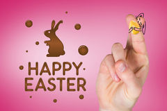 Composite image of fingers as easter bunny Royalty Free Stock Image