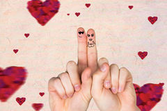 Composite image of fingers crossed like a couple Royalty Free Stock Photography