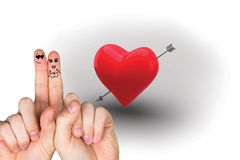 Composite image of fingers crossed like a couple Royalty Free Stock Photo