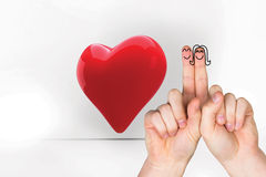 Composite image of fingers crossed like a couple Royalty Free Stock Photos