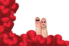 Composite image of fingers crossed like a couple Stock Photography
