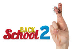 Composite image of fingers posed as students. Fingers posed as students against back 2 school Royalty Free Stock Photo