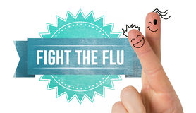 Composite image of fingers smiling. Fingers smiling against flu shot message Stock Images