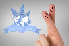 Composite image of fingers smiling Royalty Free Stock Photo