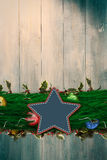 Composite image of fir branch christmas decoration garland Royalty Free Stock Image
