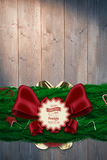 Composite image of fir branch christmas decoration garland Stock Photo