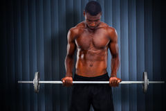 Composite image of fit man lifting barbell Stock Images