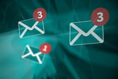 Composite image of five text messages received Royalty Free Stock Image