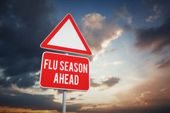 Composite image of flu season ahead Stock Photography