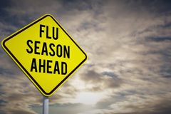 Composite image of flu season ahead Stock Images