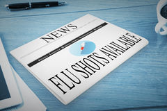 Composite image of flu shot Royalty Free Stock Photo