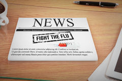Composite image of flu shot message Royalty Free Stock Photo