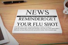 Composite image of flu shot reminder Stock Photo