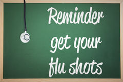 Composite image of flu shot reminder Stock Photography