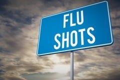 Composite image of flu shots Stock Photography