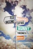 Composite image of flu shots Stock Image