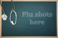 Composite image of flu shots Royalty Free Stock Photos