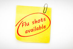 Composite image of flu shots available Stock Photo