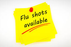 Composite image of flu shots available Royalty Free Stock Photography