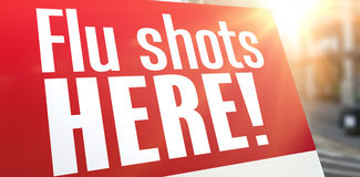 Composite image of flu shots here Stock Photo