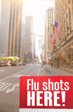 Composite image of flu shots here Stock Images