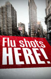 Composite image of flu shots here Stock Image