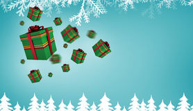 Composite image of flying christmas presents Stock Image