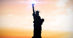 Composite image of focus on liberty statue Stock Photography