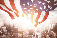 Composite image of focus on usa flag Royalty Free Stock Image
