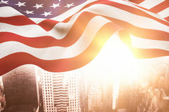 Composite image of focus on usa flag Stock Image