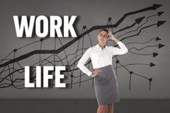 Composite image of focused businesswoman Stock Photos