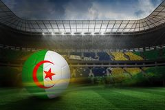 Composite image of football in algeria colours Stock Photography