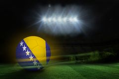 Composite image of football in bosnia and herzegovina colours Stock Photo
