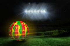 Composite image of football in cameroon colours Royalty Free Stock Image