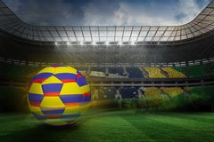 Composite image of football in colombia colours Royalty Free Stock Photography
