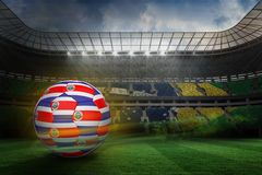 Composite image of football in costa rica colours Stock Photography