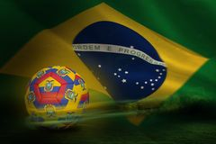 Composite image of football in ecuador colours Royalty Free Stock Photography