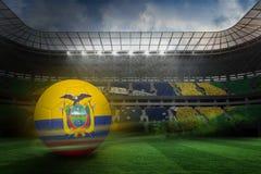 Composite image of football in ecuador colours Royalty Free Stock Photos