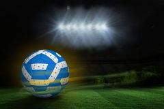 Composite image of football in honduran colours Stock Photos