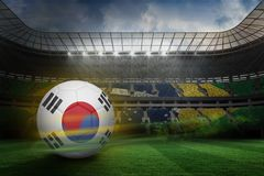 Composite image of football in south korea colours Royalty Free Stock Photos