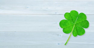 Composite image of four leaf clover Stock Photography