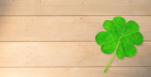 Composite image of four leaf clover Royalty Free Stock Photos