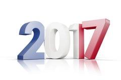 Composite image of france national flag. France national flag against illustration of new year number Royalty Free Stock Images