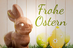 Composite image of frohe ostern Stock Photo