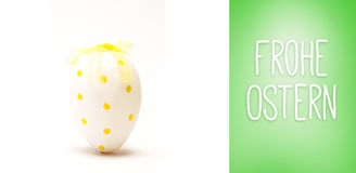 Composite image of frohe ostern Stock Photos