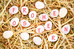 A Composite image of Frohe Ostern Stock Images